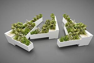 戶外植物模型3d模型