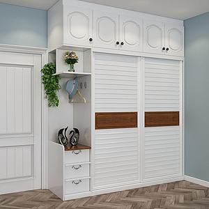 實木衣柜模型3d模型