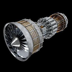 渦輪發動機3d模型