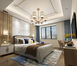 中式臥室模型3d模型