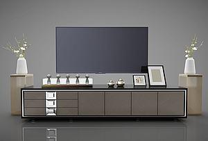 电视柜模型3d模型