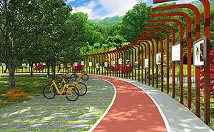 公園跑道模型3d模型