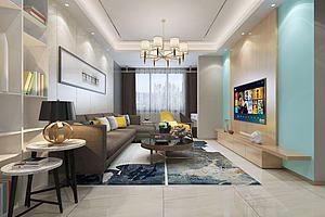 現代家裝模型3d模型