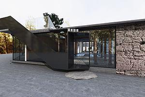 民宿前臺公共區域模型3d模型