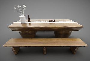 茶臺模型3d模型