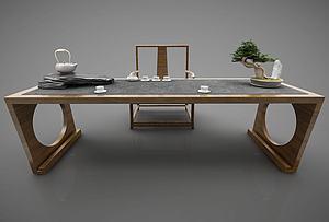 茶案模型3d模型