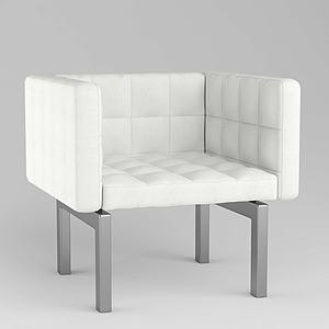 現代休閑簡約單人沙發3d模型