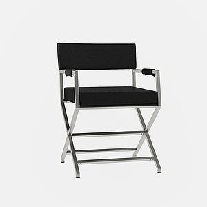 現代休閑扶手單椅3d模型