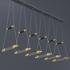 現代小橋式吊燈3d模型