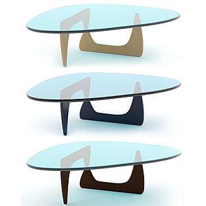 北歐休閑茶幾咖啡桌3d模型