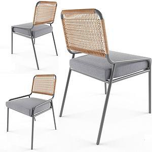 后現代休閑單椅3d模型