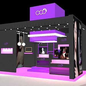 化妝品展臺3d模型