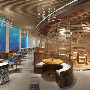 特色餐廳3d模型