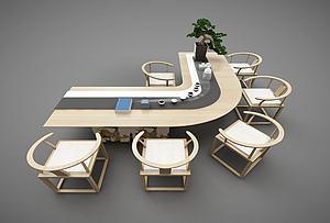 弧形辦公桌模型3d模型