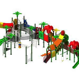 大型滑梯3d模型