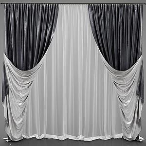 窗帘3d模型