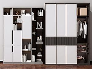 现代衣柜装饰柜模型3d模型