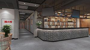 水煮魚大廳模型3d模型