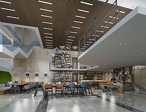 餐飲空間模型3d模型