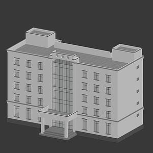 警局3d模型