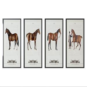 現代壁畫馬模型3d模型