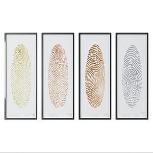 現代指紋壁畫模型3d模型