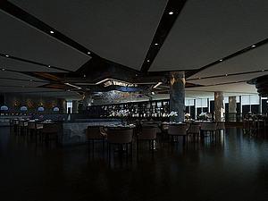 高端餐厅模型3d模型