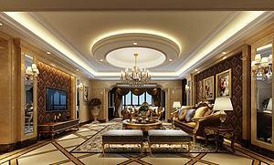 欧式客厅模型3d模型