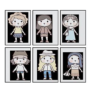 現代兒童房可愛卡通3d模型