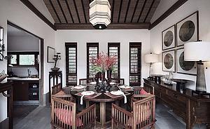 中式餐厅模型3d模型