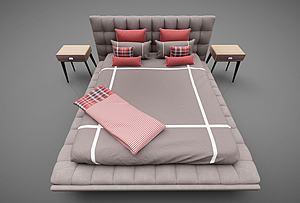 床頭柜臺燈組合模型3d模型