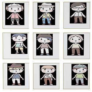 現代兒童房卡通3d模型