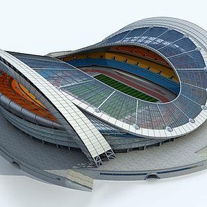 現代體育館足球場3d模型