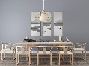 餐厅中式模型3d模型