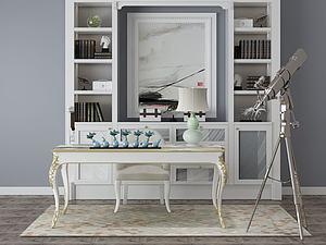 書房模型3d模型