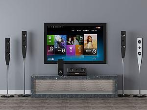 電視柜模型3d模型