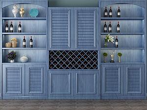 裝飾柜博古架組合模型3d模型