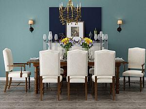 家具組合餐桌模型3d模型