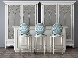 家具组合吧台模型3d模型