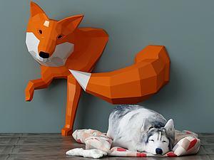 動物狗模型3d模型