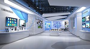 科技展廳模型3d模型