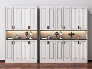 鞋柜大衣柜模型3d模型