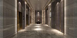 電梯間模型3d模型