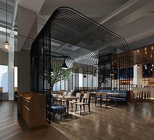 現代個性餐廳模型3d模型