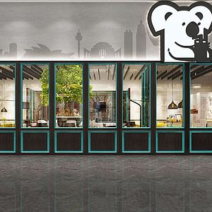 時尚餐廳3d模型