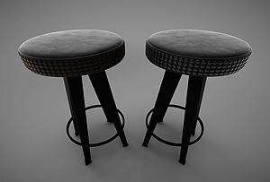 現代風格休閑椅模型3d模型