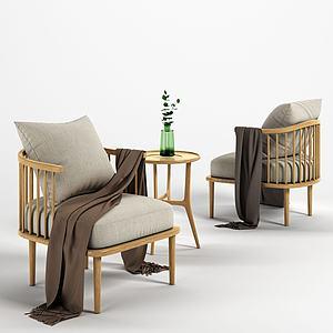 北歐單椅模型3d模型