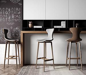 现代吧椅模型3d模型
