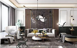 现代客厅模型3d模型