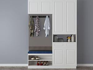 家具饰品组合鞋柜模型3d模型